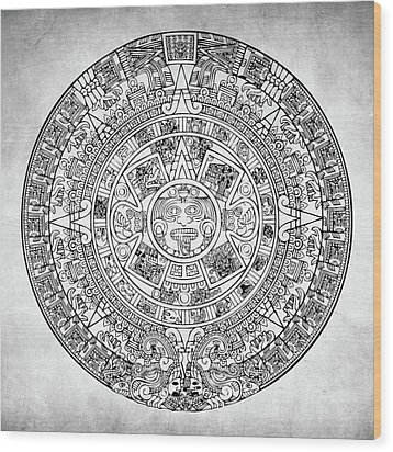 Wood Print featuring the photograph  Aztec Sun by Taylan Apukovska