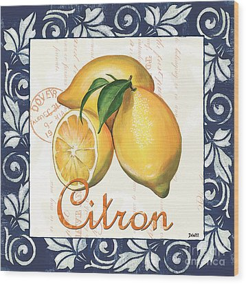 Azure Lemon 2 Wood Print by Debbie DeWitt