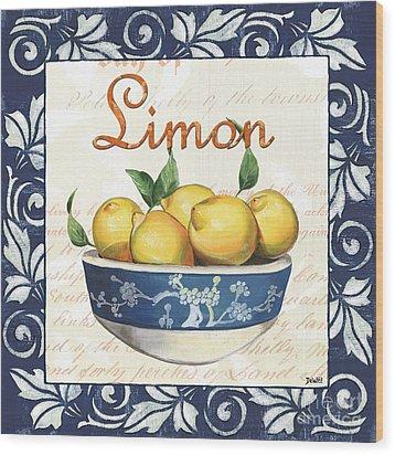 Azure Lemon 3 Wood Print by Debbie DeWitt