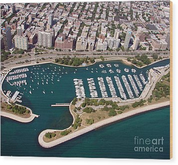 Wood Print featuring the photograph B-023 Belmont Harbor 2 Chicago Illinois by Bill Lang