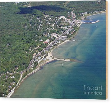 Wood Print featuring the photograph B-025 Baileys Harbor South Shoreline Wisconsin by Bill Lang