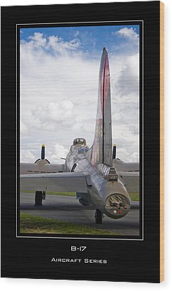 B-17 Pink Lady Wood Print by Mathias Rousseau