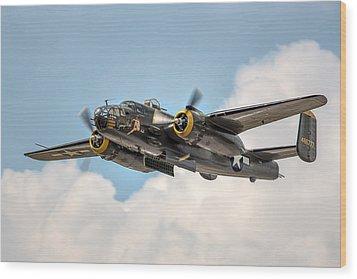 B-25 Georgie's Gal Wood Print by Bill Lindsay