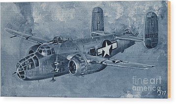 B-25 Mitchell Wood Print by Holly York