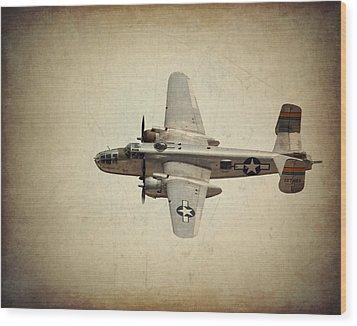 B-25j    Miss Mitchell Wood Print by Al  Mueller