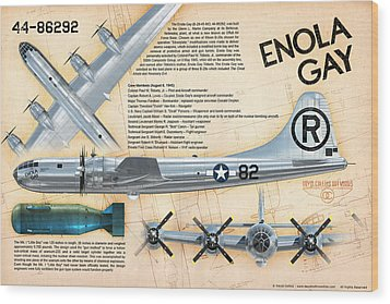 B-29 Enola Gay  Wood Print by David Collins