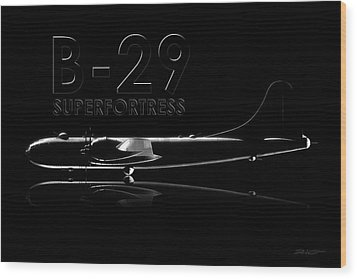B-29 Superfortress Wood Print by David Collins