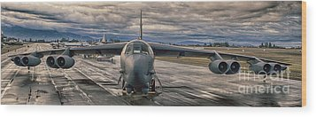 B-52 Wood Print by Jim  Hatch