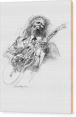 B B King And Lucille Wood Print by David Lloyd Glover