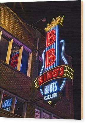 B B Kings On Beale Street Wood Print