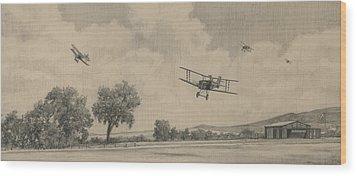 B Flights Back Wood Print by Wade Meyers