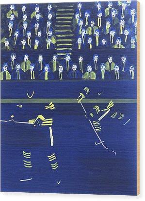 B S Wood Print by Ken Yackel
