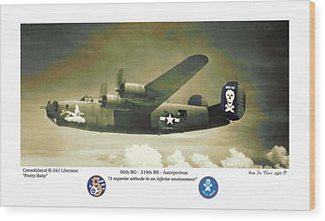 B24-pretty Baby Wood Print by Kenneth De Tore