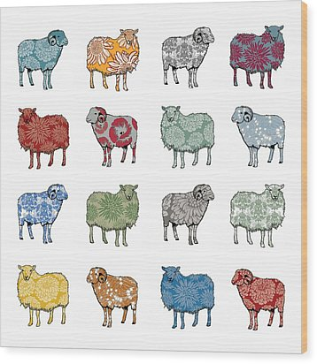 Baa Humbug Wood Print by Sarah Hough