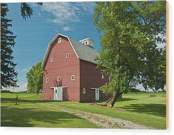 Wood Print featuring the photograph Babcock Barn 2259 by Guy Whiteley
