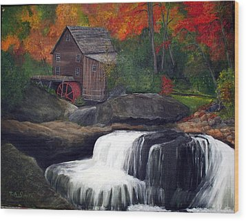 Babcock Mill Wood Print by Timothy Smith