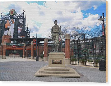 Wood Print featuring the photograph Babes Dream - Camden Yards Baltimore by Bill Cannon