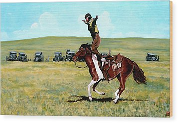 Babette Rides Again Wood Print by Tom Roderick