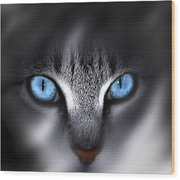 Wood Print featuring the photograph Baby Blues by Cecil Fuselier