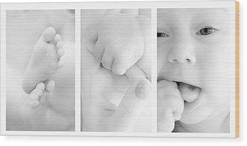 Baby Details Wood Print by Jaroslaw Grudzinski