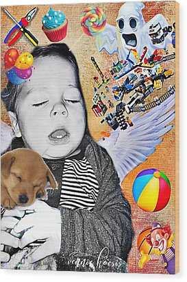 Baby Dreams Wood Print by Vennie Kocsis