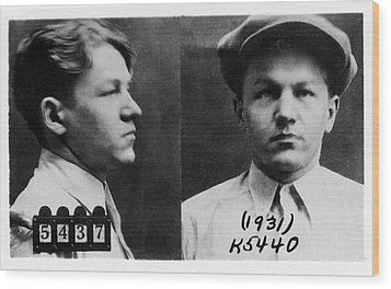Baby Face Nelson 1908-1934, Bank Robber Wood Print by Everett