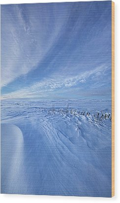 Wood Print featuring the photograph Baby It's Cold Outside by Phil Koch