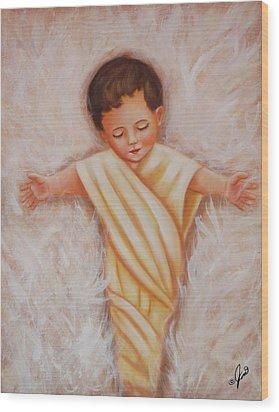 Baby Jesus Wood Print by Joni McPherson