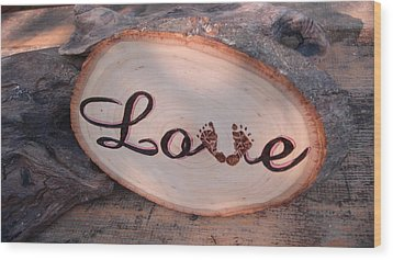 Baby Love Wood Print by Dakota Sage
