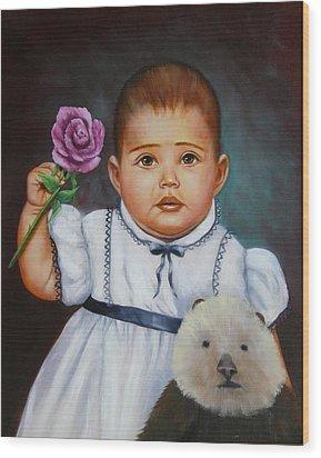 Baby Otter Wood Print by Joni McPherson