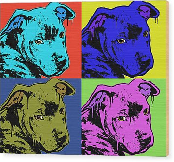 Baby Pit Face Wood Print by Dean Russo