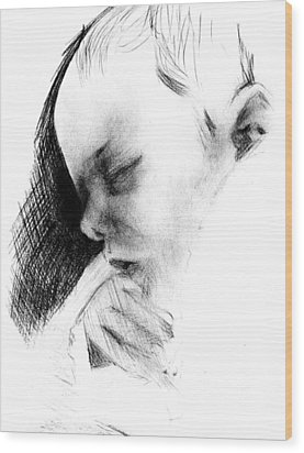 Baby Wood Print by Reza Naqvi
