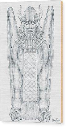 Babylonian Sphinx Lamassu Wood Print by Curtiss Shaffer