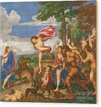 Bacchus And Ariadne Wood Print by Titian