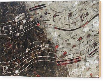 Bach Invention 13 Wood Print by Debra Hurd
