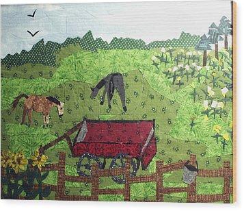 Back 40 Wood Print by Charlene White