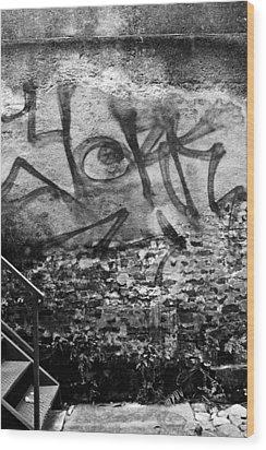 Back Alley Graffiti  Wood Print by Dustin K Ryan