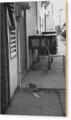 Back Alley View Wood Print by Pam Walker