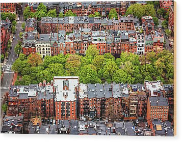 Wood Print featuring the photograph Back Bay Boston  by Carol Japp
