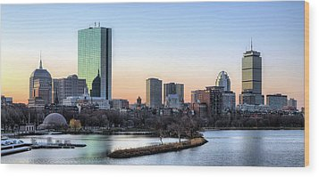 Back Bay Sunrise Wood Print by JC Findley