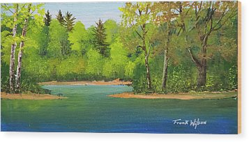 Wood Print featuring the painting Back Country Pond by Frank Wilson