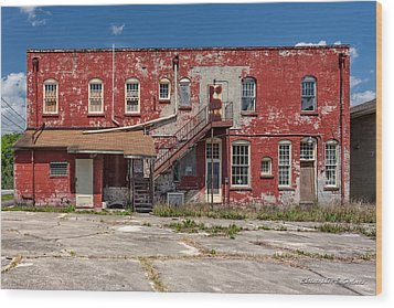 Wood Print featuring the photograph Back Lot by Christopher Holmes