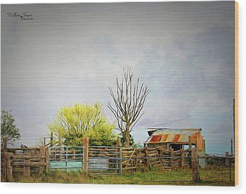 Wood Print featuring the photograph Back Of Beyond by Wallaroo Images