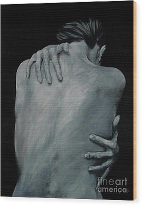 Back Of Naked Woman Wood Print