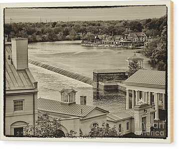 Back Of Water Works Wood Print by Jack Paolini