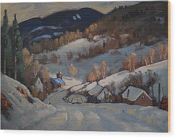 Back Road Vermont Wood Print by Len Stomski