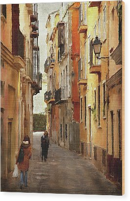 Back Streets Of Spain Wood Print by Declan O'Doherty