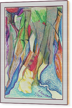 The Gathering Wood Print by Ruth Renshaw