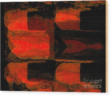 Colour Choice Stone Abstract Wood Print