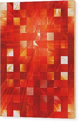 Background Heat Wood Print
